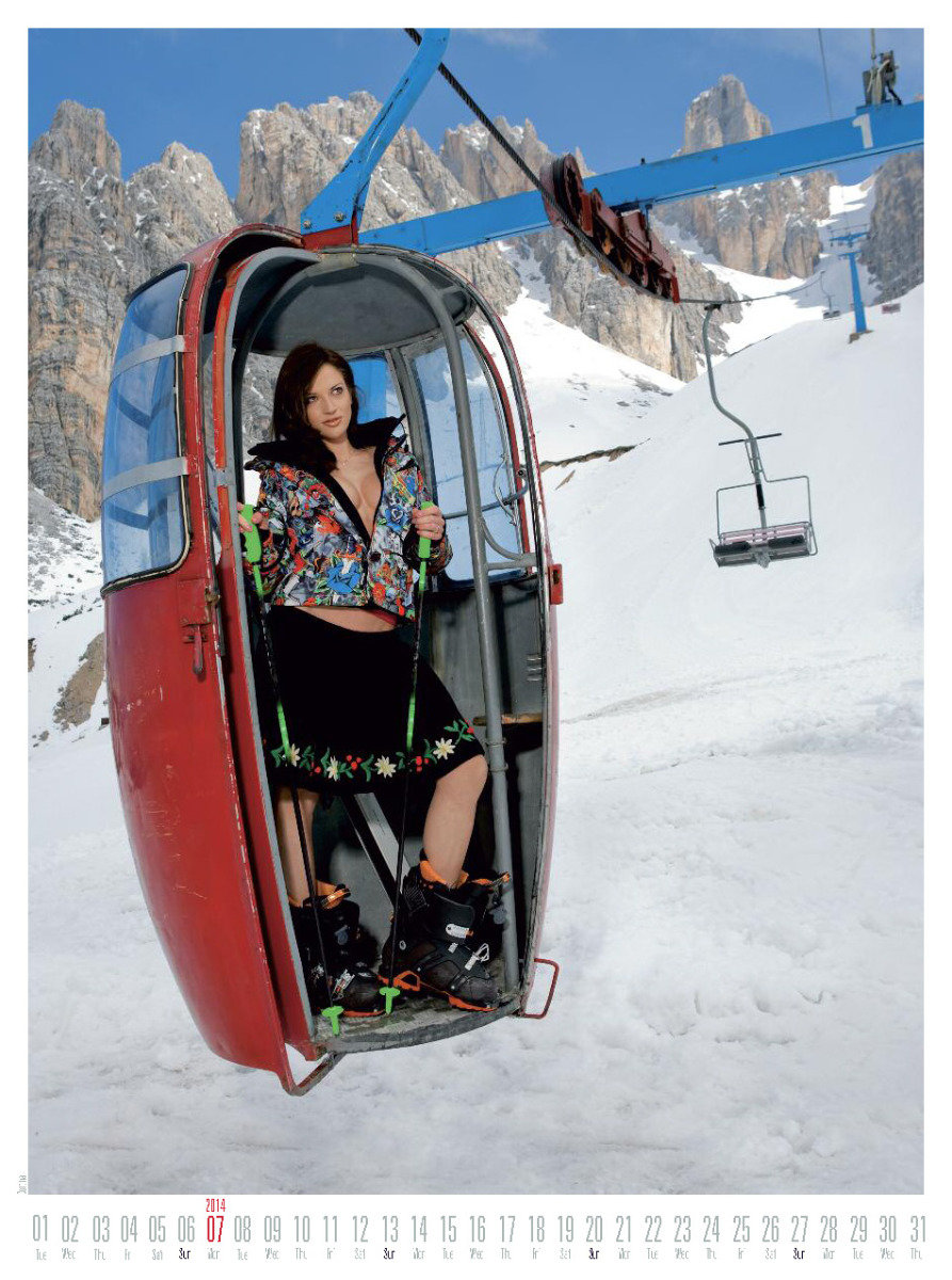 Ms July 2014 - Female Ski Instructor Calendar - ©Hubertus Hohenlohe/www.skiinstructors.at