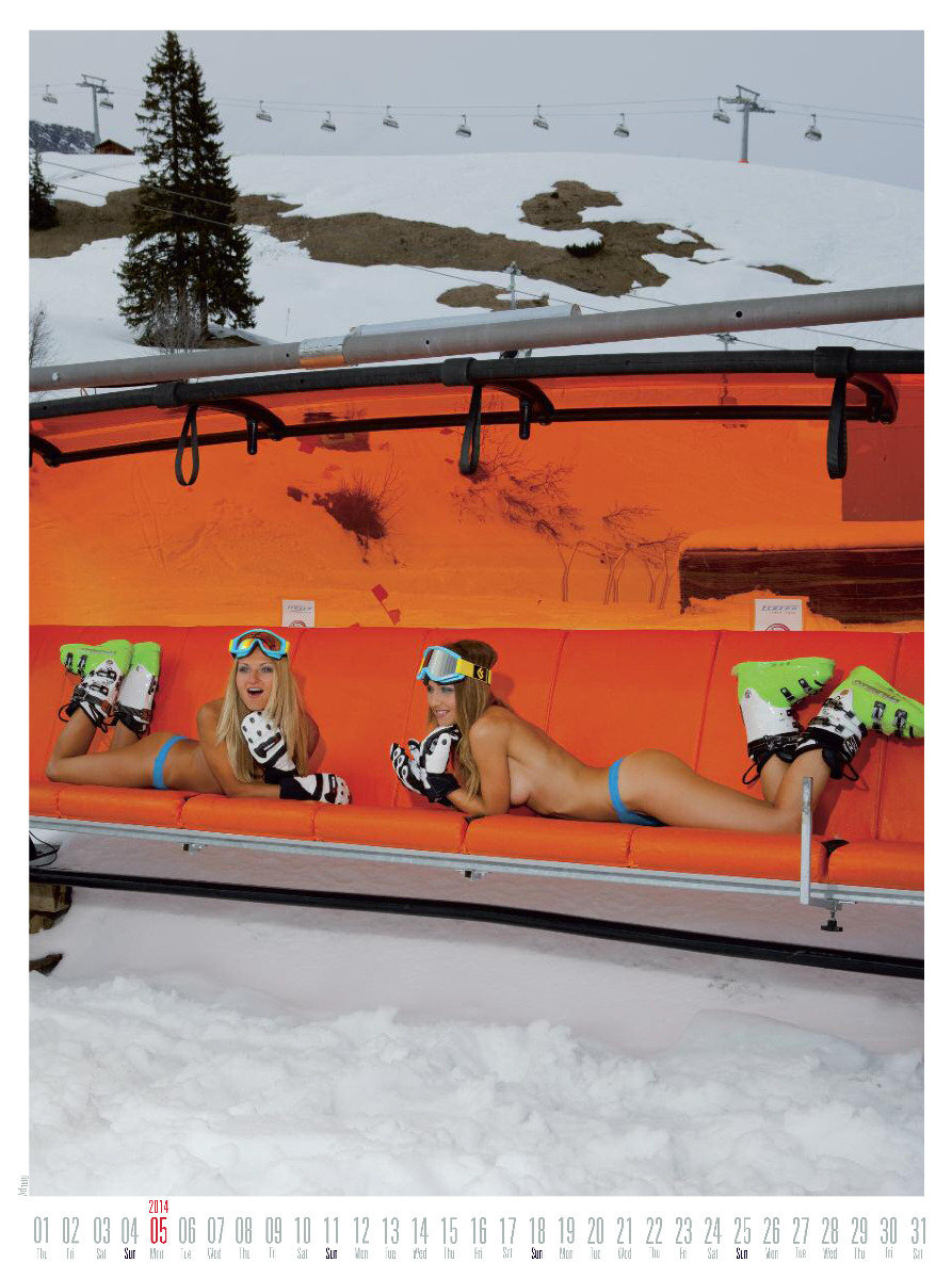 Ms May 2014 - Female Ski Instructor Calendar