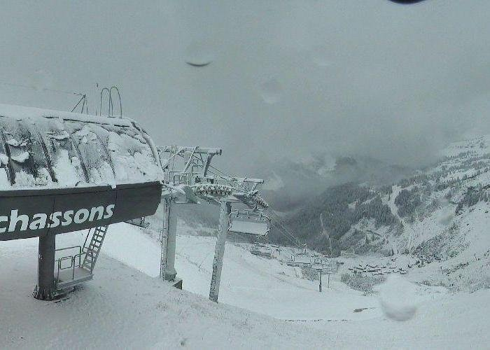 News snow in Chatel, Oct. 10 2013