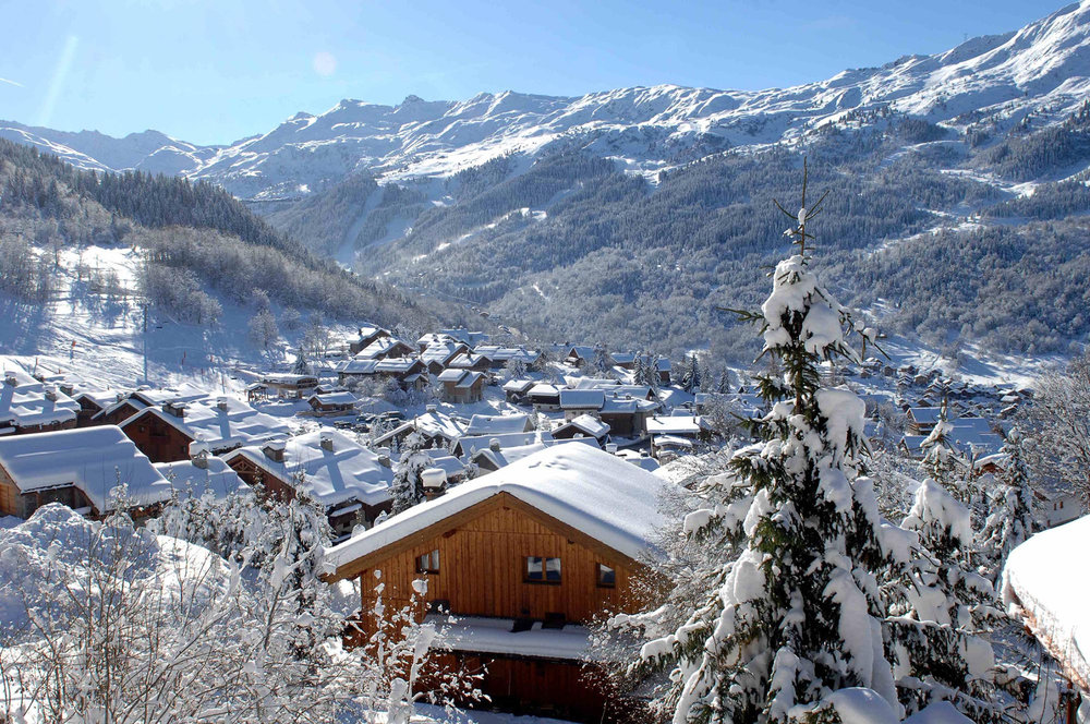 Pretty village of Meribel, 3 Vallees - © OT Meribel / J.M Gouedard