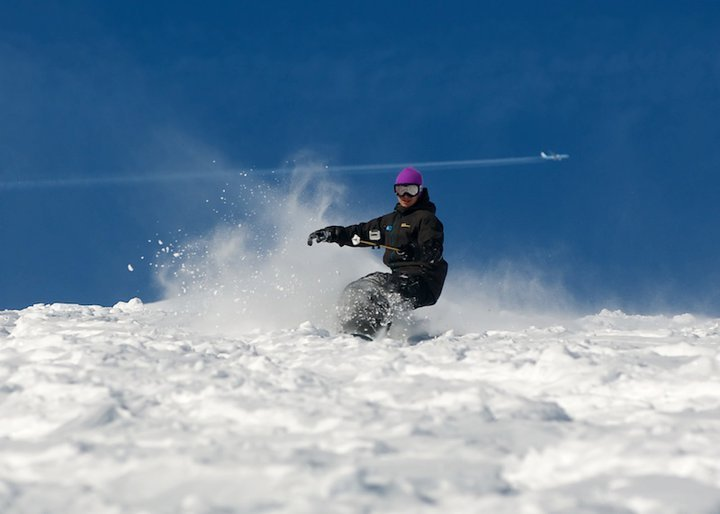 Pro rider, Rowan Brandreth hitting the powder - ©Rowan Brandreth