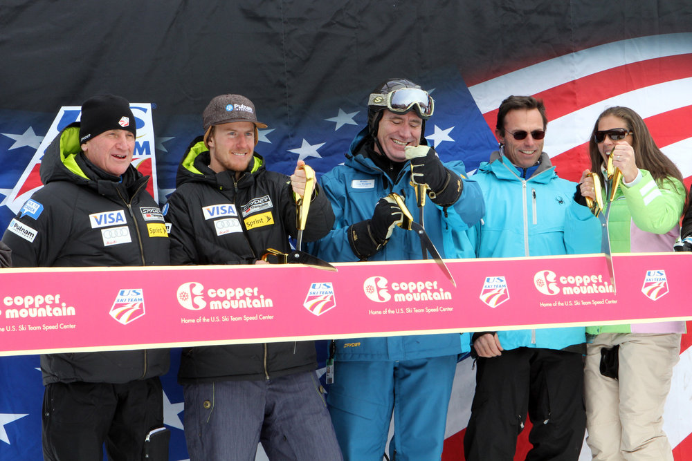 The ribbon is cut to kick off the 2013-14 season at Copper Mountain - ©Photo courtesy Tripp Fay/Copper Mountain Resort.