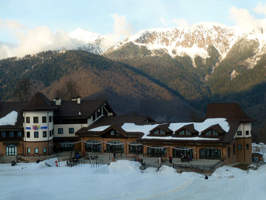 Rosa Khutor Mountain Lodge. - © Brian Pinelli