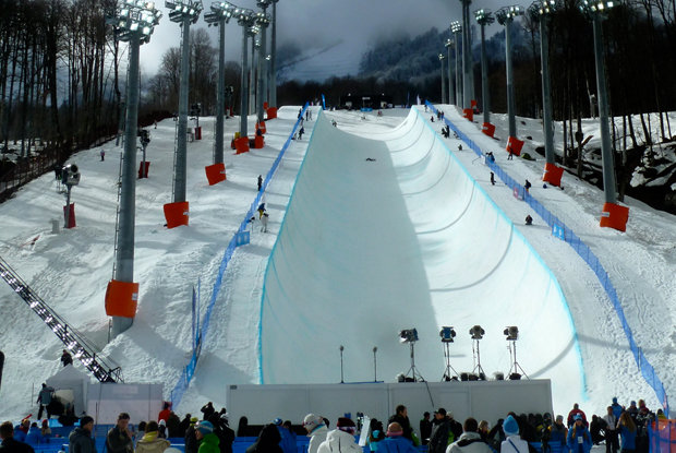 Rosa Khutor Extreme Park Olympic halfpipe. - ©Brian Pinelli