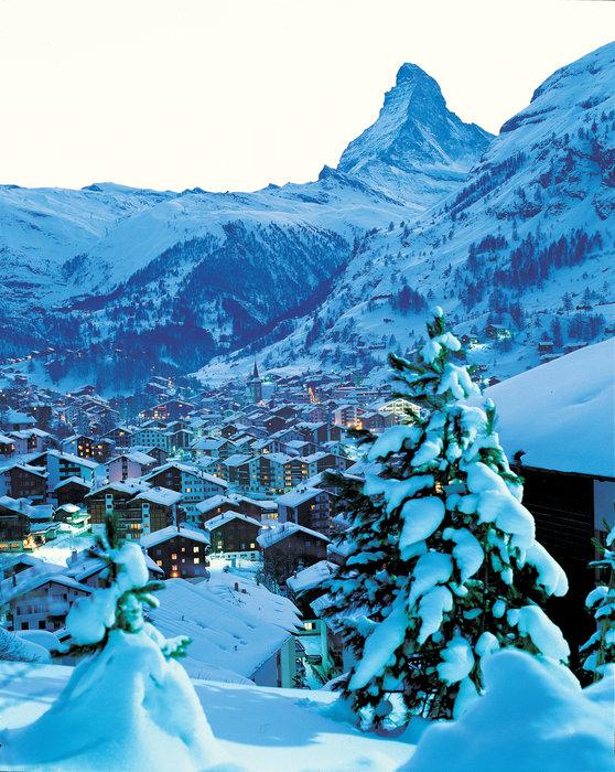 Snow-clad Zermatt and the Matterhorn, Switzerland.  - © Zermatt Tourismus