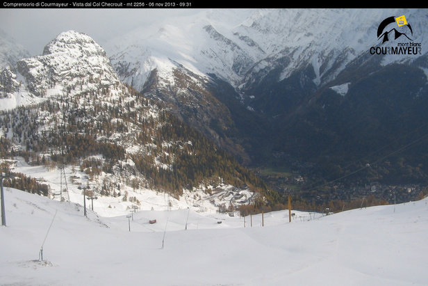 Snow in Courmayeur, Italy Nov. 6, 2013