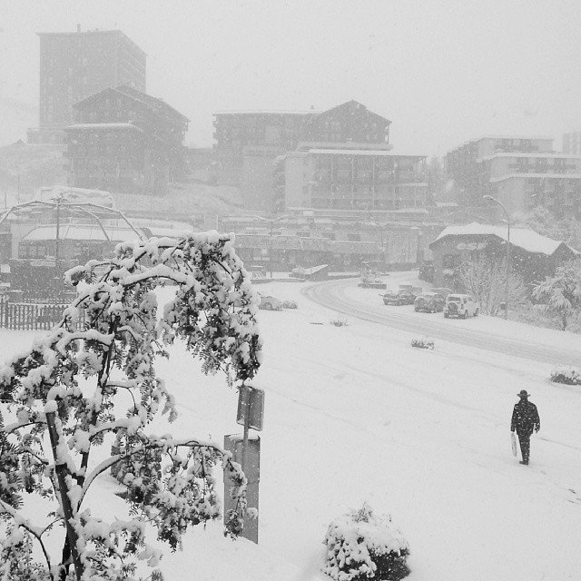Snow in Orcieres 1850 Nov. 4, 2013