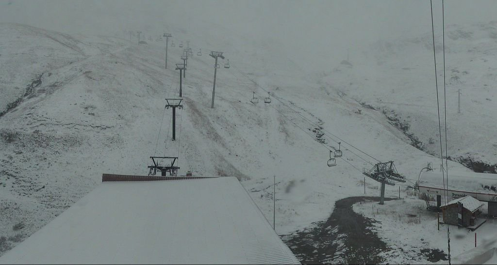 Snow in Val d'Isere, Oct. 10 2013
