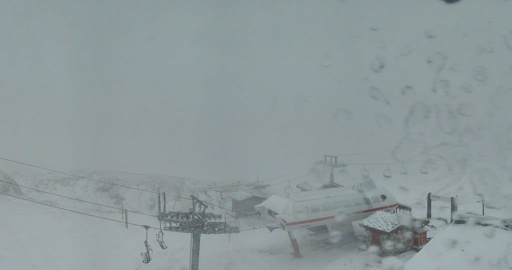 Snow in Val d'Isere Oct. 10, 2013