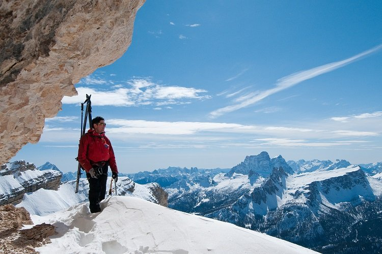 Standing at the top of the Hidden Valley, Cortina, Italy - © Giuseppe Ghedina