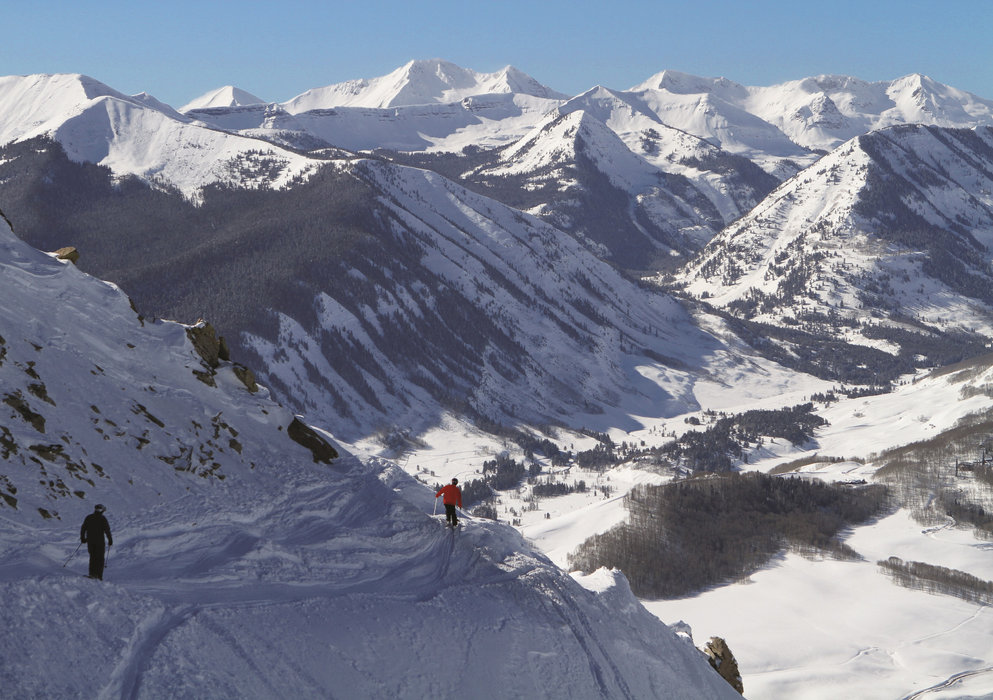 Taking the high traverse at Crested Butte Mountain Resort. - © Courtesy of Crested Butte Mountain Resort