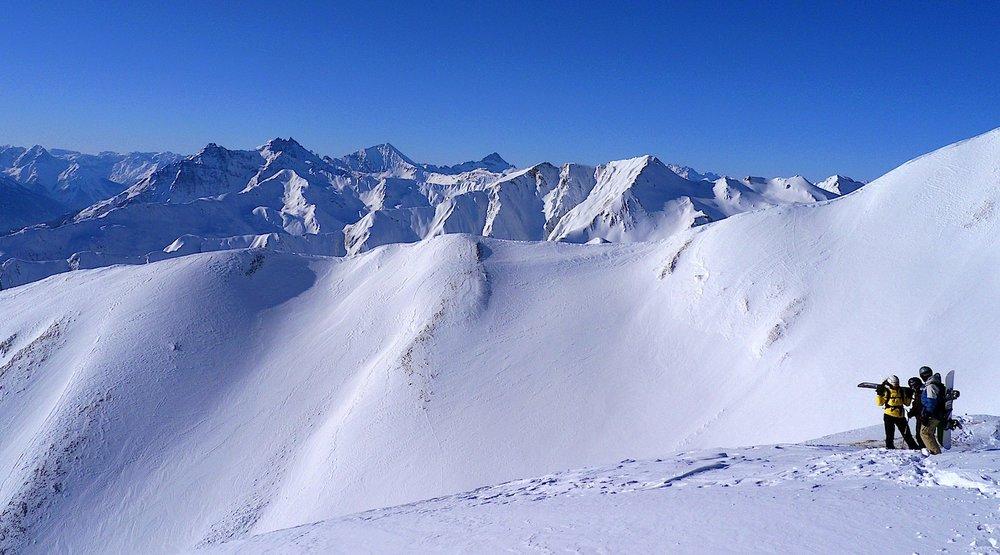 Skiing the slopes at Heavenly CA