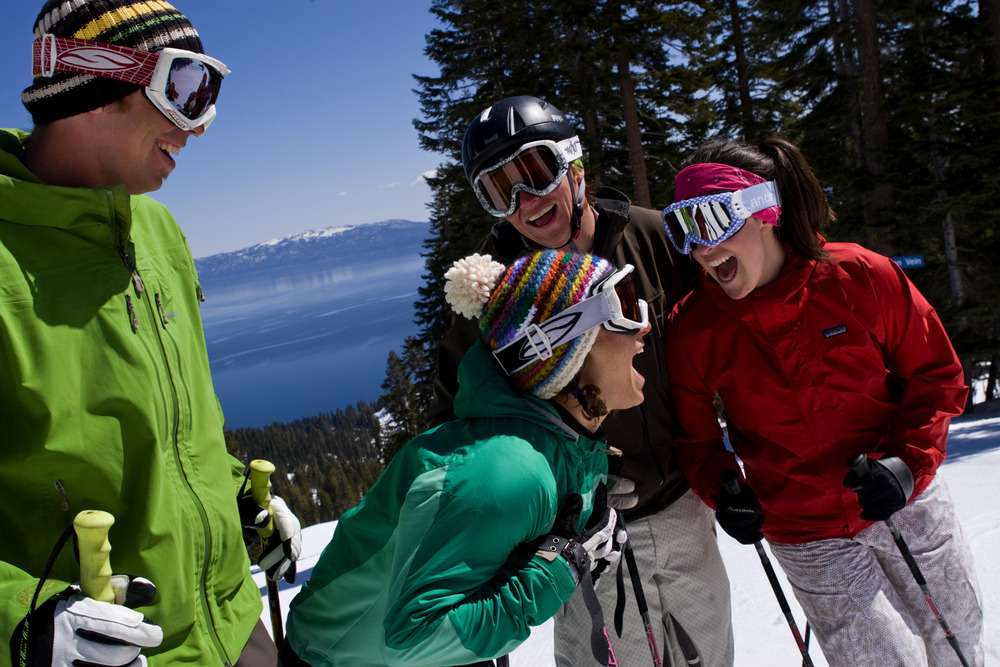 Spring skiing at the Homewood Mountain Resort on the West shore of Lake Tahoe with Jamie Lavalle, Emily Turner, Kris Thomas, and Kristen Boddy.
