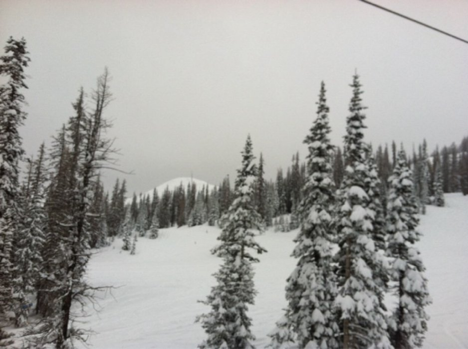 Epic day for November. Tons of pow. Untouched Alberta side.