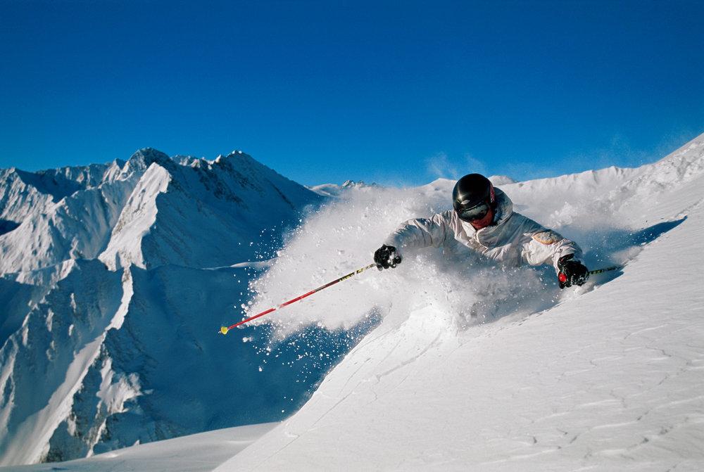 Skifahren in Samnaun - © Engadin Samnaun