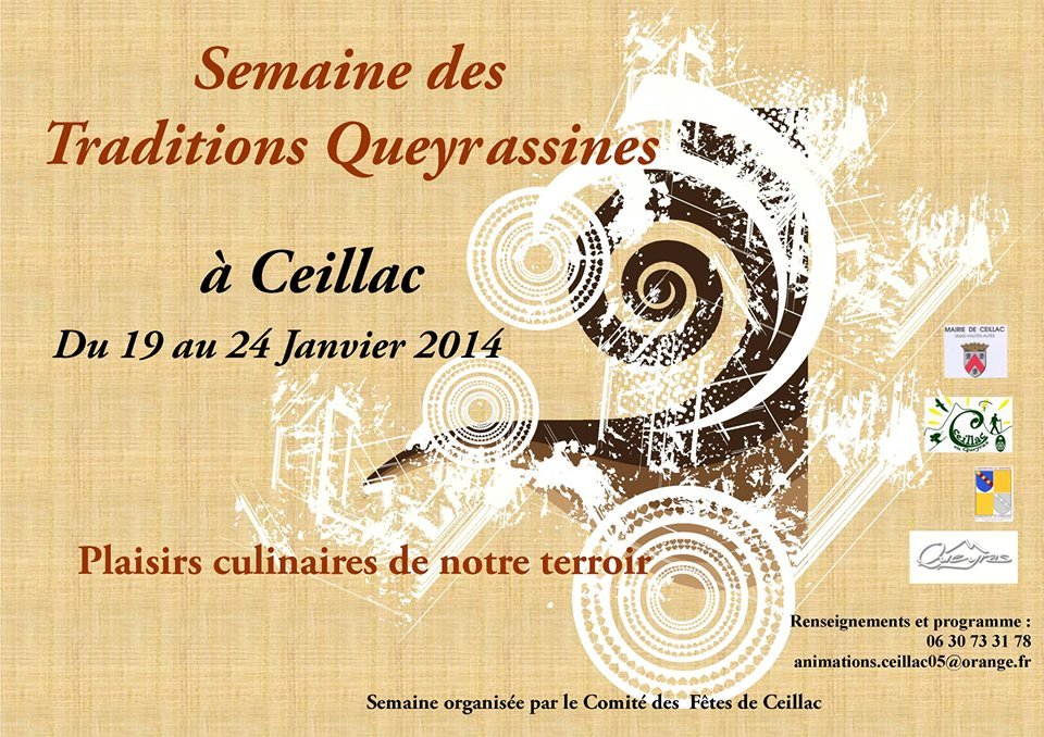 Affiche semaine des traditions Queyrassins - © OT Queyras