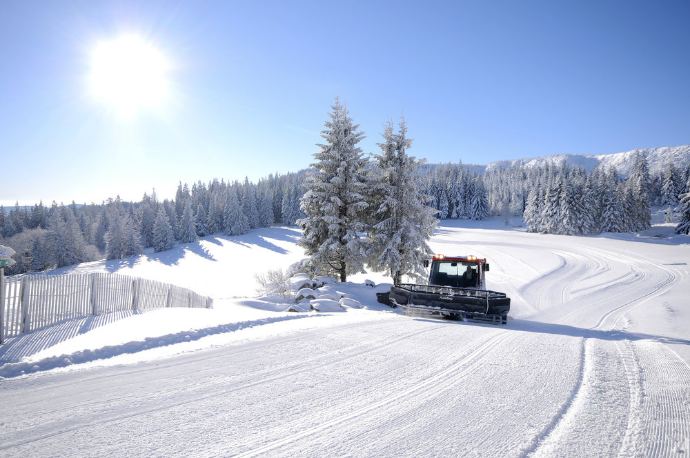 Dameuse en action au Lac Blanc - © OT Vallée de Kaysersberg