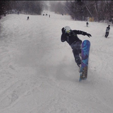 Caught nice fresh tracks in the am but got tracked out early. Got my powder fix