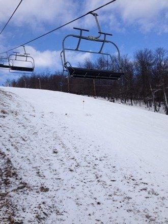 Good snow - pic from black diamond lift