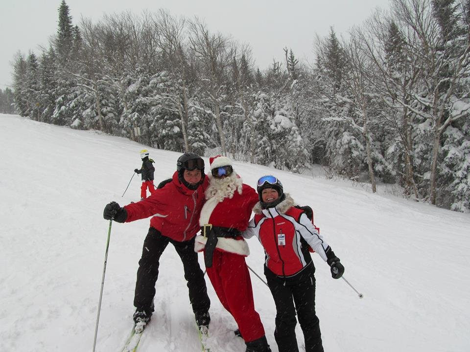 All smiles as St. Nicholas poses - © Mont-Sainte-Anne