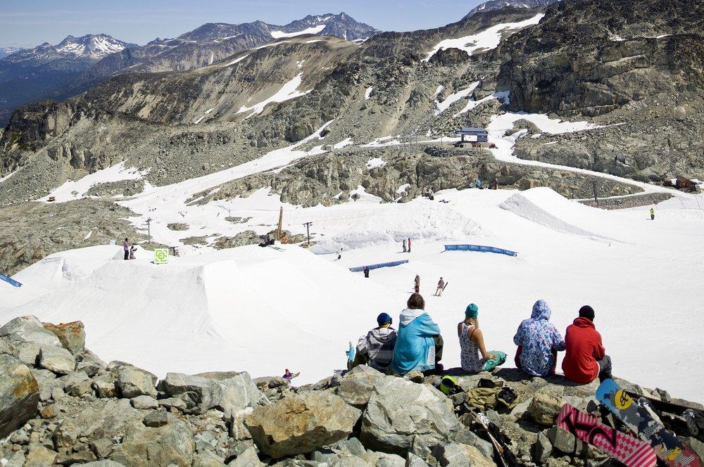Summer skiing on Horstman Glacier - ©Dano Pendygrasse/Whistler Blackcomb