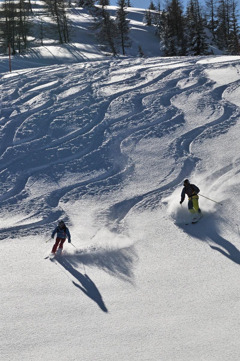 Powderschwünge im Skigebiet Winklmoosalm - © Norbert Eisele-Hein