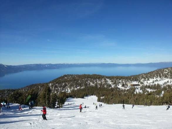No fresh snow but the man made snow is great, feels like it just snowed yesterday. Great snow for it being the 8th most dry season in Tahoe.