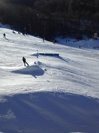 Here is the view of terrain park requested.