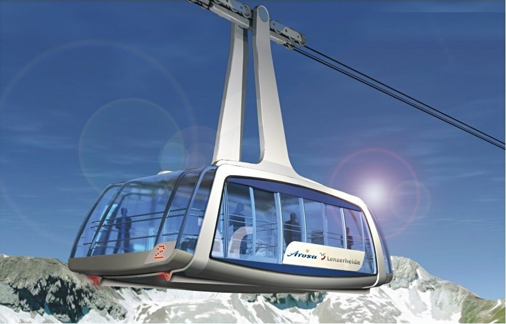 New gondola for 150 persons - © Arosa Lenzerheide