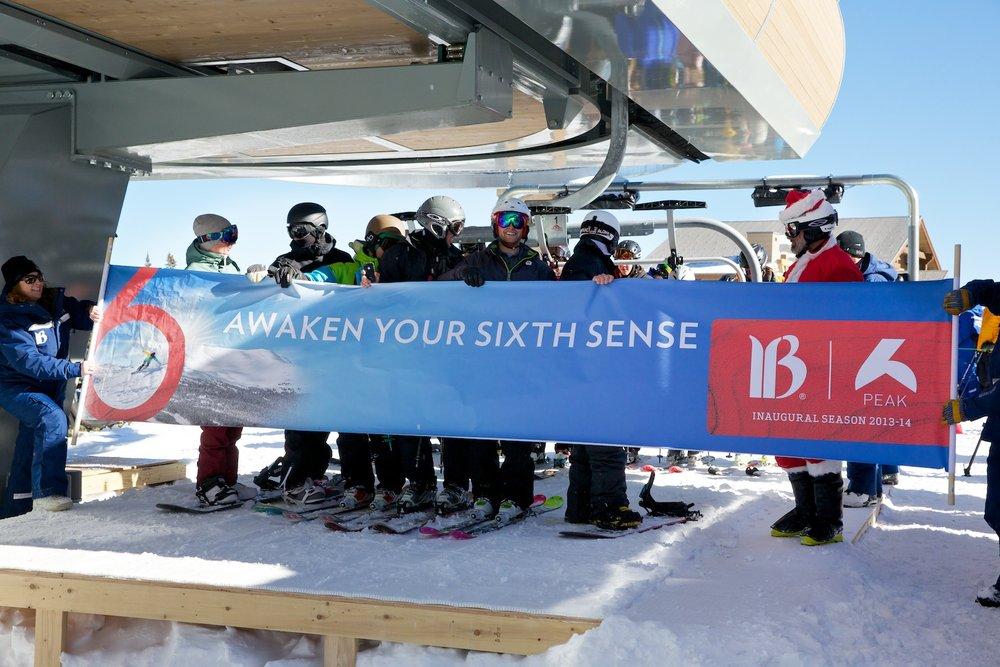 Breck Peak 6 opening day, 12.25.13 - © Breckenridge