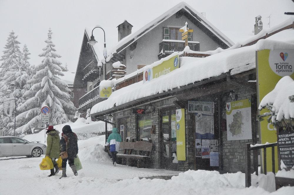 Verse sneeuw in Clavière (Via Lattea) op 26 december 2013 - © Vialattea