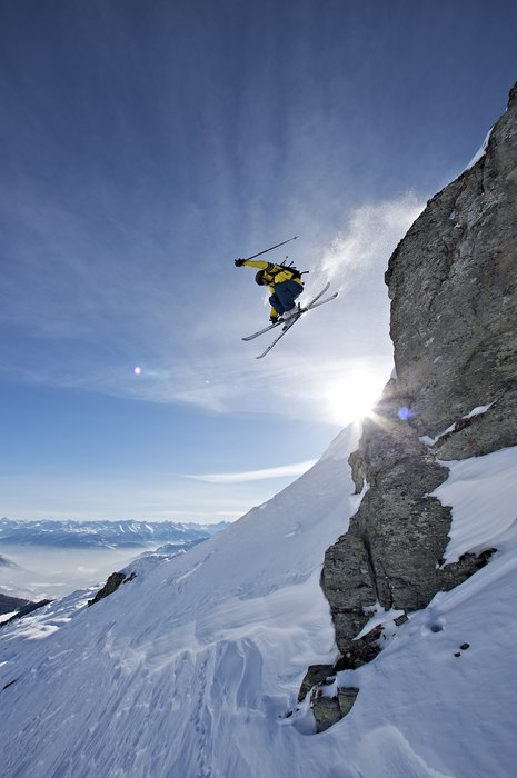 Freeriding in Laax - © Graubünden