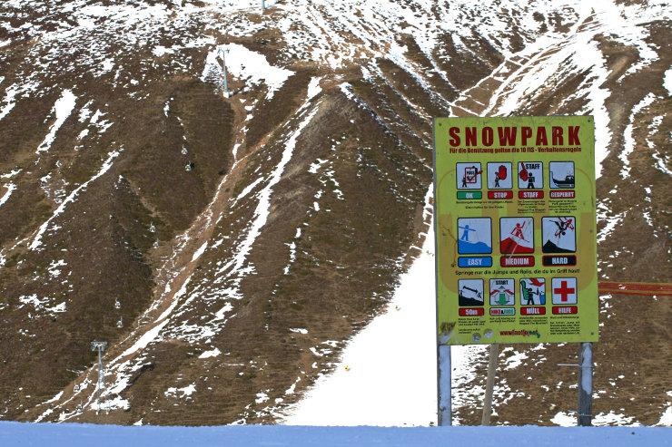 Park-Rules im Snowpark Kühtai - © Stefan Drexl