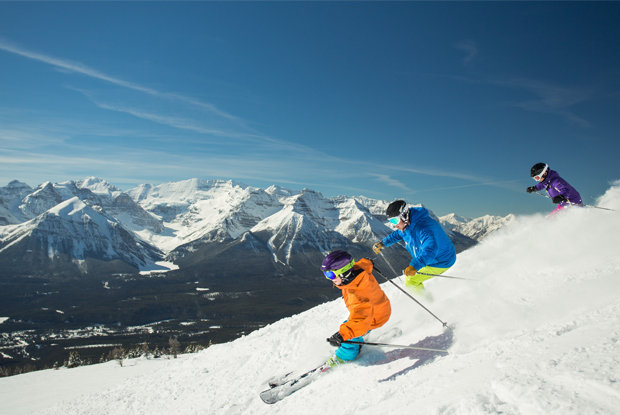 Lake Louise operates lifts into early May. - © Banff Lake Louise Tourism Paul Zizka