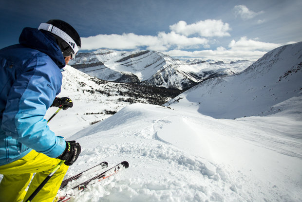 Lake Louise covers 4,200 acres of skiable terrain. - ©Travel Alberta