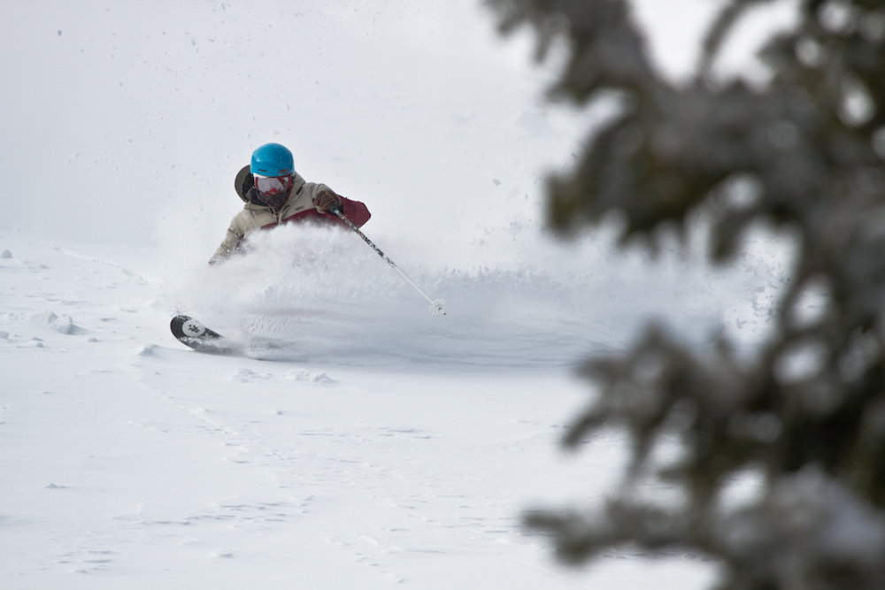 Storm riding Monarch style.  Skier: Ian Borgeson Photo by Liam Doran - © Liam Doran