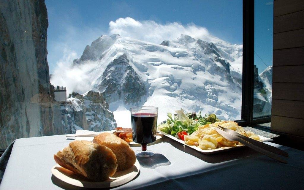 Mont Blanc from the Summit Cafe in Chamonix. - ©Chamonix Tourism