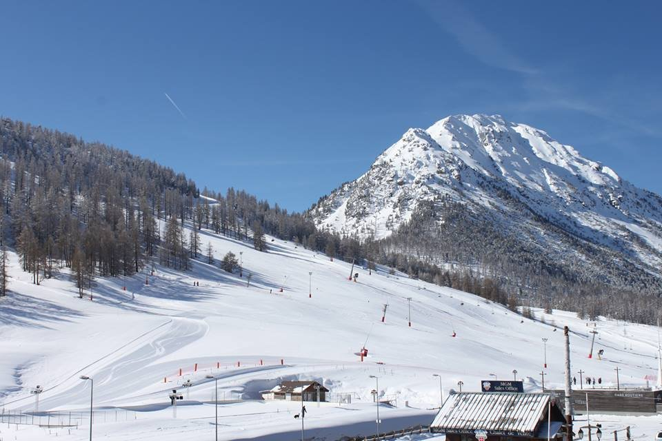 Montgenevre, Italy blanketed in snow today ahead of season start this weekend