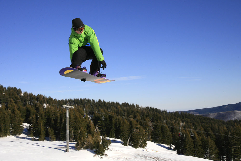 Flying high at Mt. Hood Meadows on a bluebird day. - ©Jay Chrisman