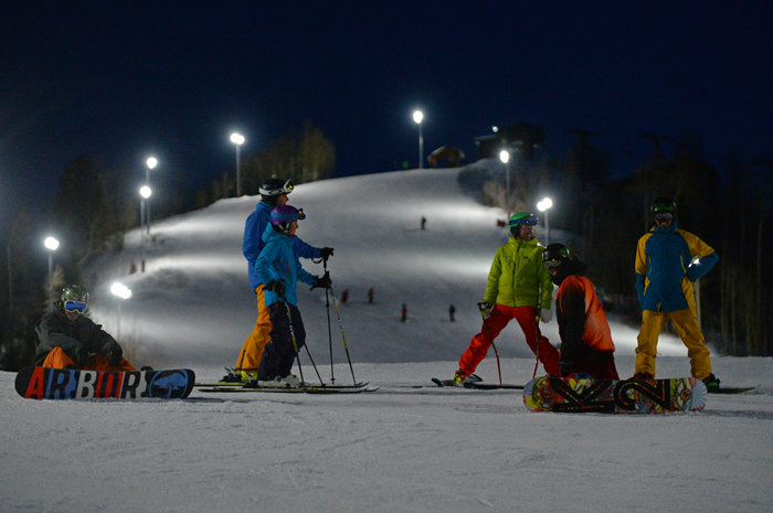 Steamboat opens night skiing for its first season. - © Larry Pierce