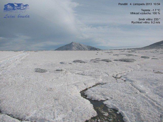 Pec Pod Sněžkou - Luční bouda 4.11.2013 - ©Pec pod Sněžkou Facebook