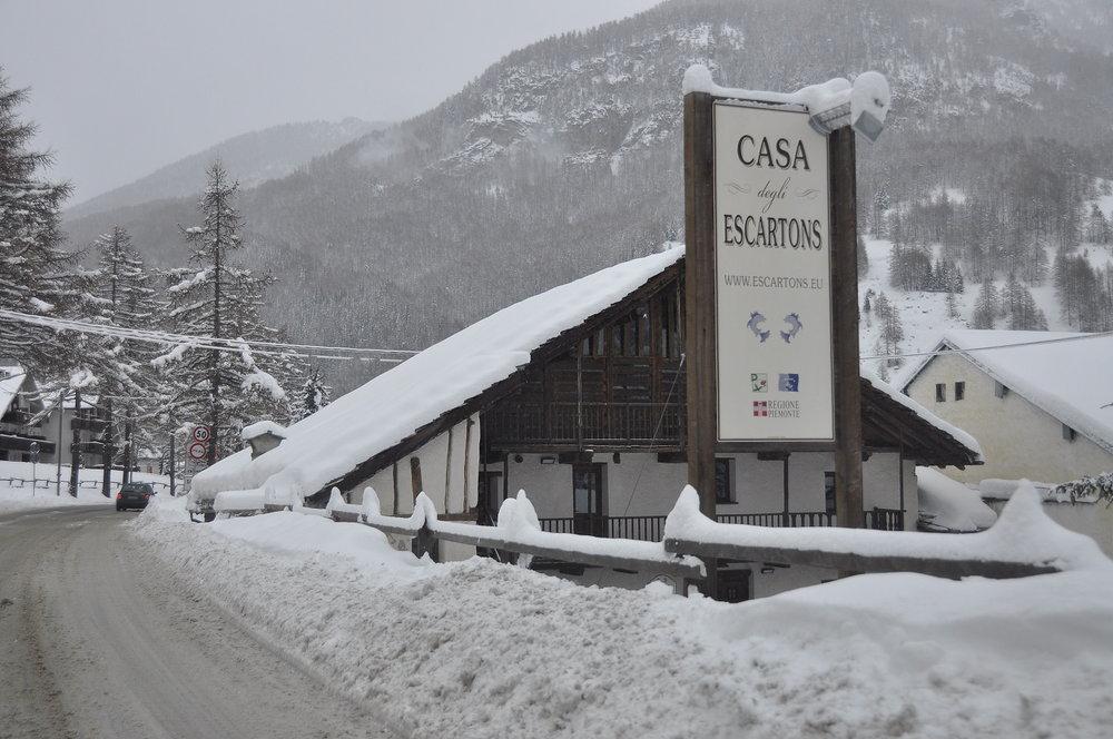 Verse sneeuw in Pragelato (Via Lattea) op 26 december 2013 - © Vialattea