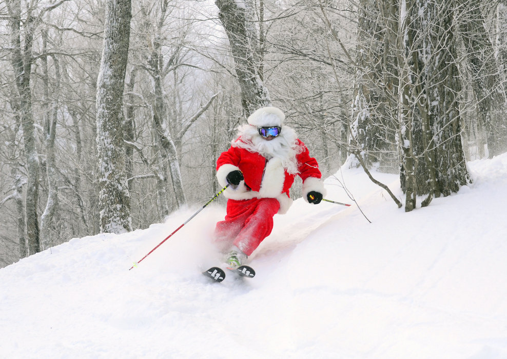 St. Nick slaying at Mad River Glen. - ©Mad River Glen Resort