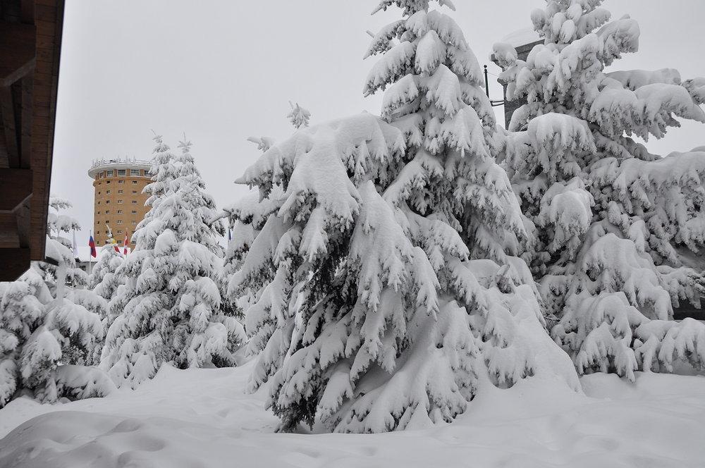 Verse sneeuw in Sestrière (Via Lattea) op 26 december 2013 - © Vialattea