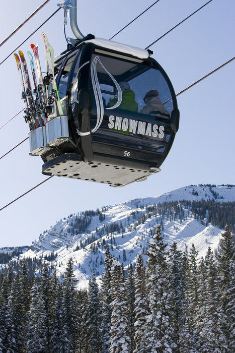 Elk camp gondola on Snowmass. Photo by Hal Williams, courtesy of Aspen/Snowmass