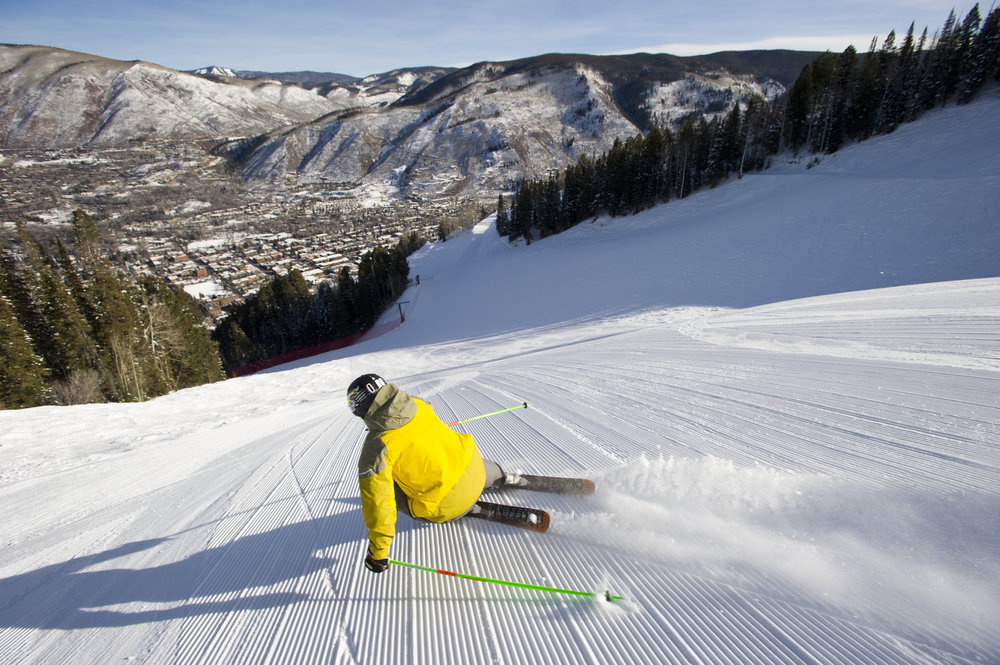 Kiffor Berg skiing at Aspen Resort, Aspen, Colorado. - ©Photos courtesy The Little Nell.