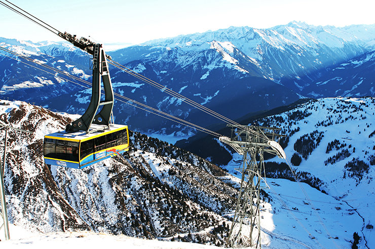 Taking the gondola up the mountain in Mayrhofen, Austria - ©Stefan Drexl