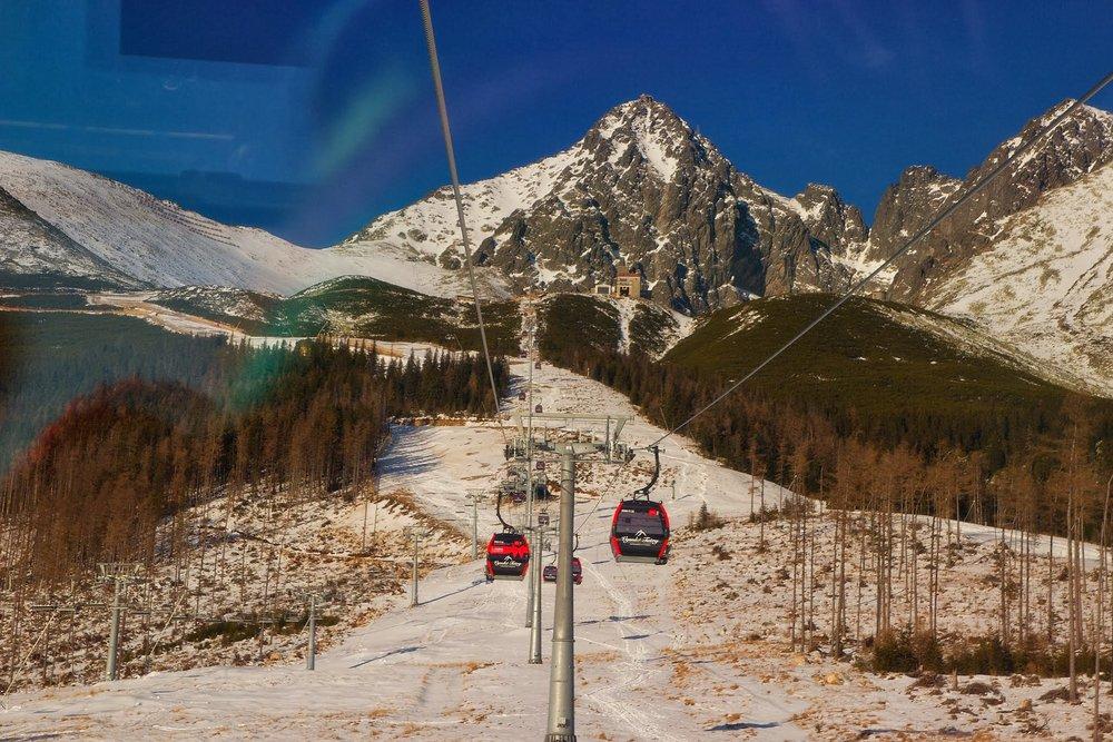 Start of new gondola on Skalnate pleso, High Tatras - © Juraj Meško