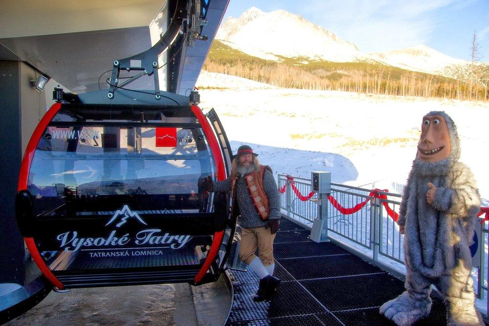 Start of new gondola on Skalnate pleso, High Tatras - ©Juraj Meško