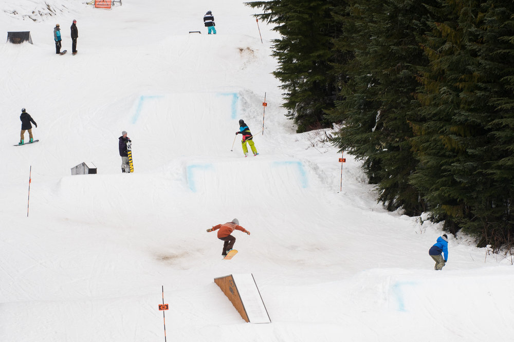 Sharing the slopes with skis and boards alike. - ©Scott Brammer